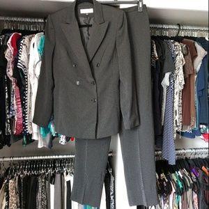 Tahari Pinstripe Blazer and Pants Suit